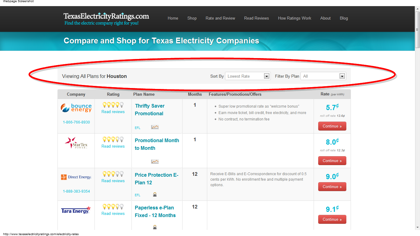 Texas Electricity Ratings Launches New Site Re Design